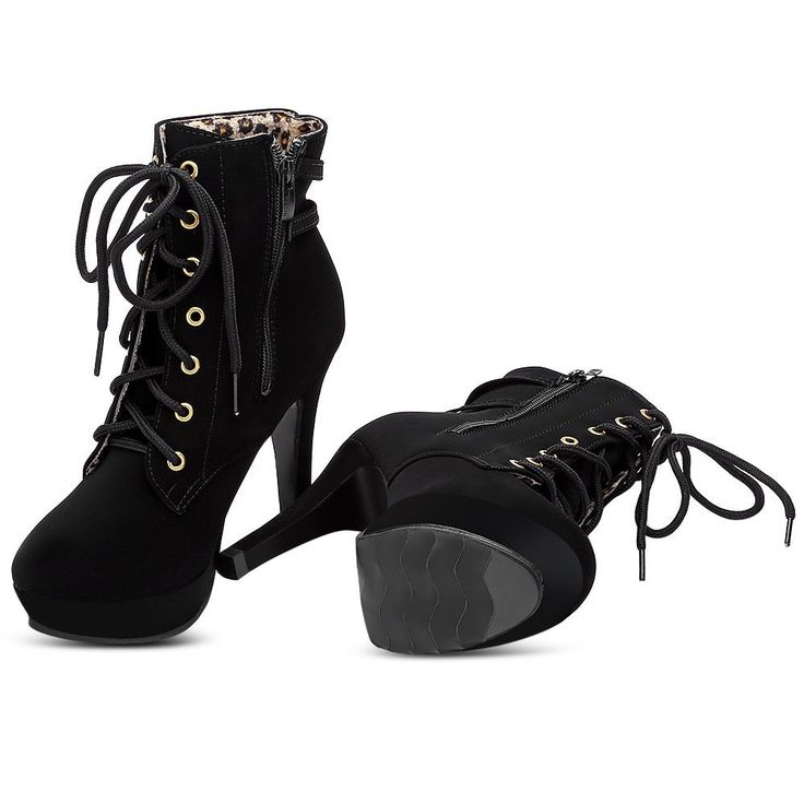 Boot Height: Ankle. Heel Type: Stiletto Heel. -High heel. -Zipper closure. Boot Type: Fashion Boots. Platform Height: 2.5cm. Heel Height: 11.5cm. Women's.   eBay!