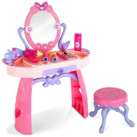 Kids Play Set Make Up Dresser 28 Piece - Pink - LetsElude