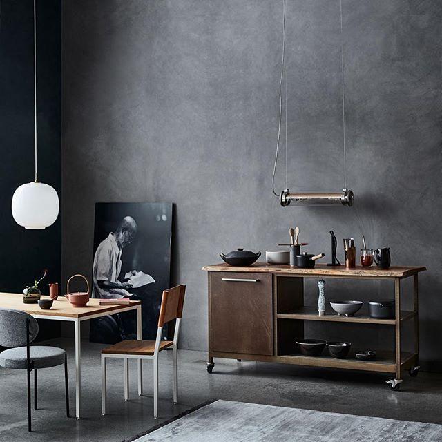 Portable kitchen by Lene Ostenfeldt & Anders Schønemann for Bo Bedre #interiordesign #kitchen #vernerpanton #steel #wood #interior #cooking #frederikerfurt #bobedre