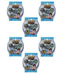 Yo-Kai Watch Series 1 YOKAI MEDALS LOT of 6 Mystery Packs