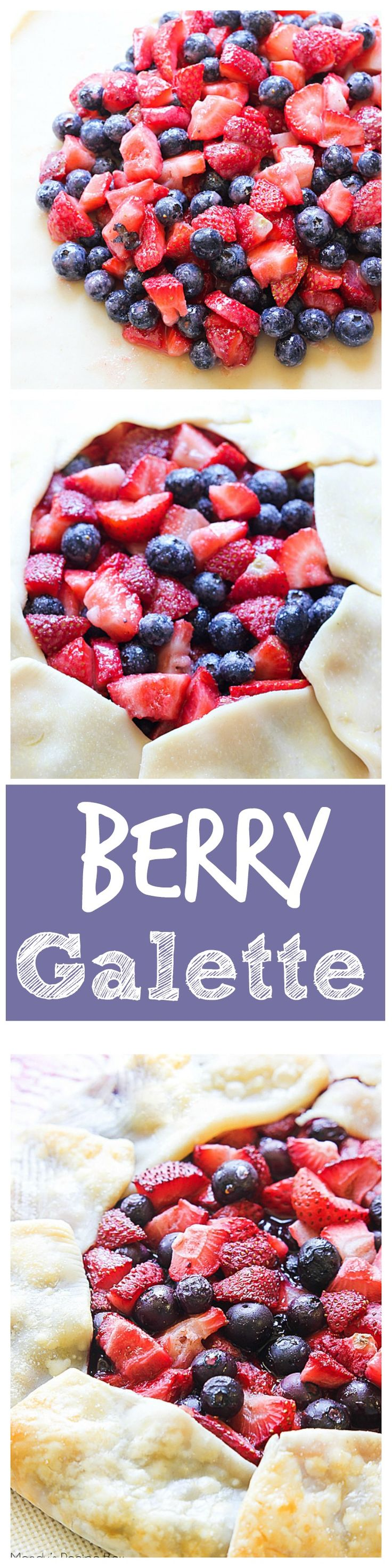 This Berry Galette is a free form pie that's baked on a baking sheet. It's really easy to make and everyone will love it!