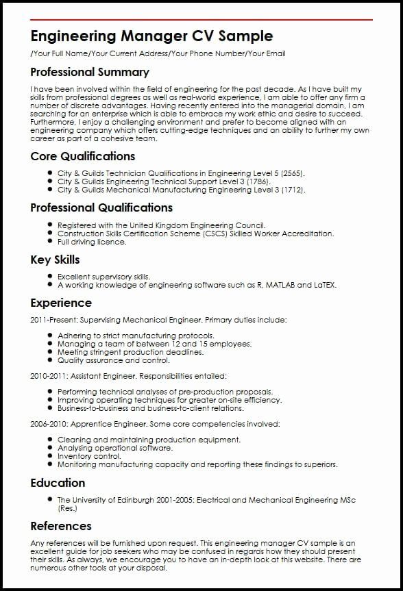 23 Engineering Manager Resume Examples In 2020 Project Manager Resume