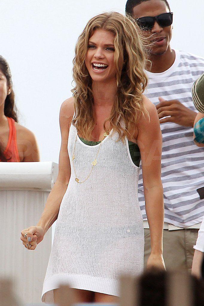 AnnaLynne McCord Green Bikini Pictures Shooting 90210 | POPSUGAR Celebrity