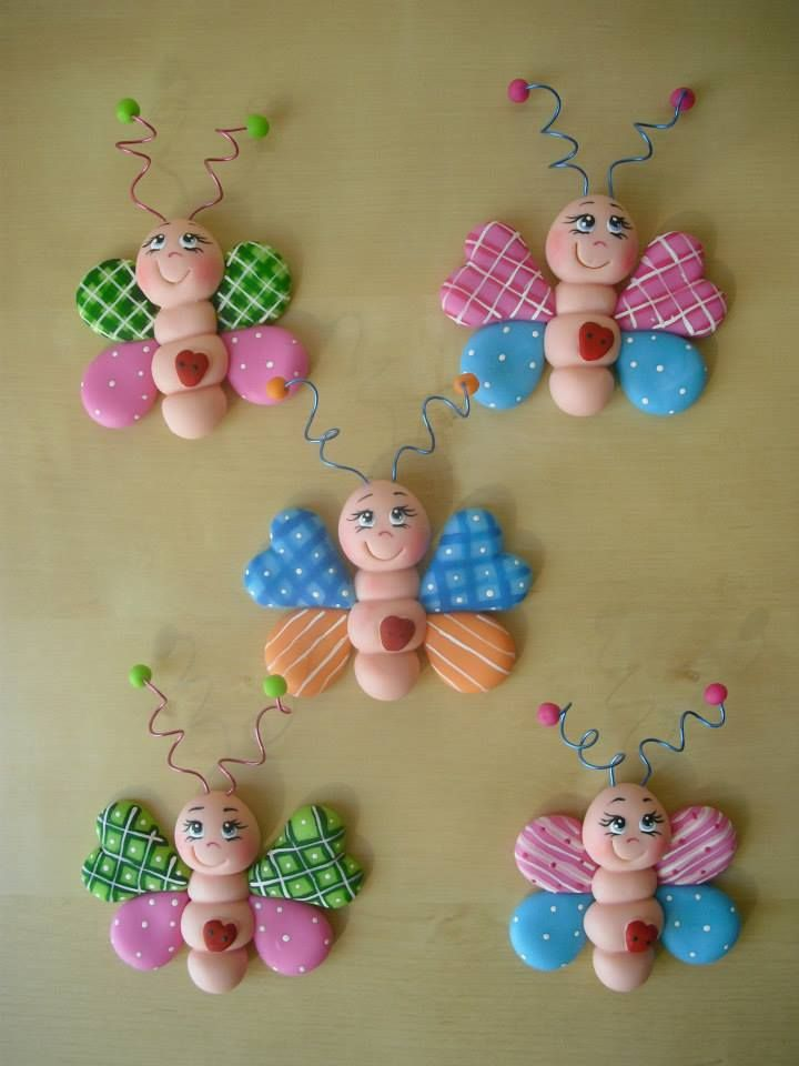 Borboletas feitas por Cristina Pina