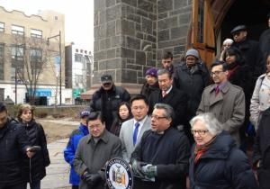 Five city bus routes will be rerouted off streets in downtown Flushing, in response to complaints about the drivers who regularly relieve themselves on the side of St. George's Episcopal Church.