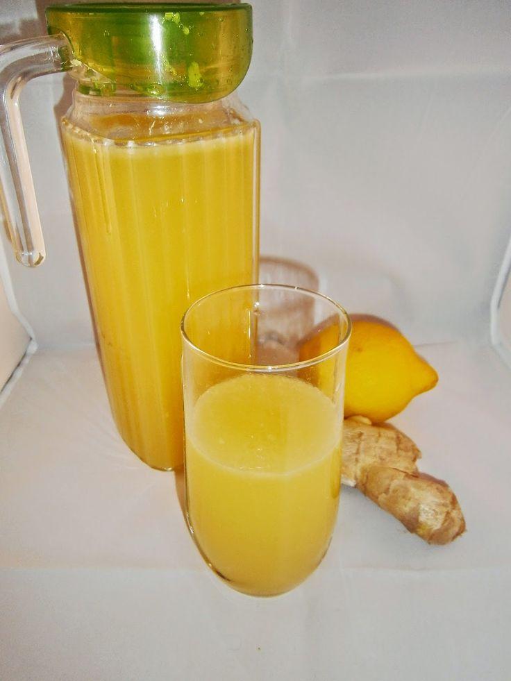 Délices d'une novice: Jus de gingembre, citron et ananas : pour faire le plein d'énergie