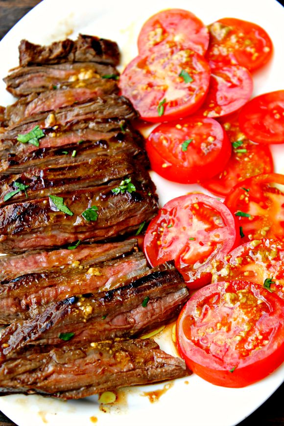tengo un plan b: Falda de ternera marinada a la parrilla - Marinated grilled skirt steak