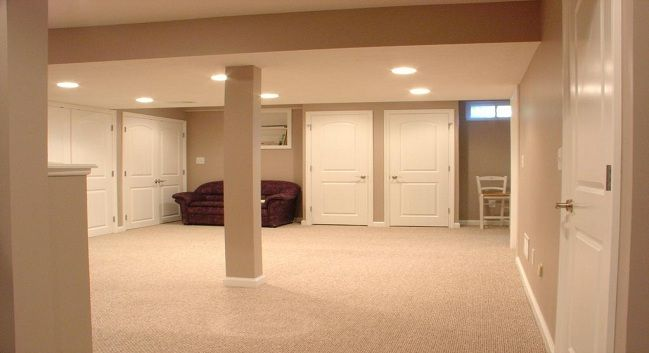 Finished basement ideas on a budget basement finishing big projects pinterest basement - Finish basement design ...
