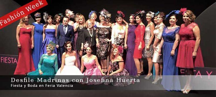 Desfile Madrinas Fashión Week con Josefina Huerta en Feria Valencia, salón Fiesta y Boda para eventos y celebraciones. Ver vídeo.