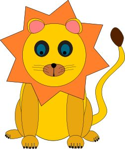 lion by @Machovka, A clipart of little lion