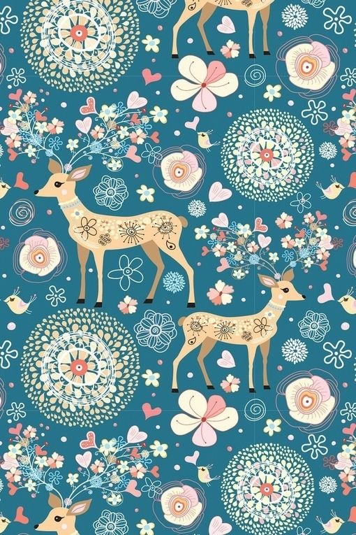 Oh gosh, I wasn't looking for wallpaper, but the deer who live at the Cottage…