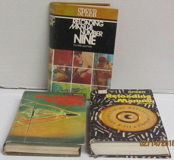 Lot of 3 Speer Reloading Manual Handbooks - # 9, 10, 11 - Cast Bullet #Speer