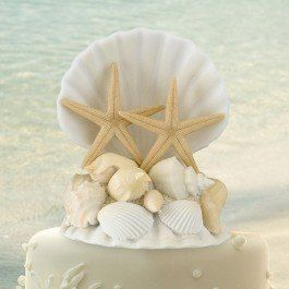 This Beach Seashells Cake Topper is great for a beach wedding!