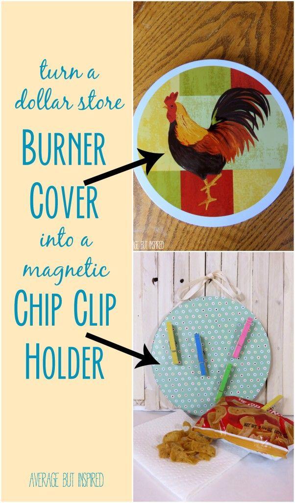 Dollar Store Magnetic Chip Clip Holder – Monthly DIY Challenge