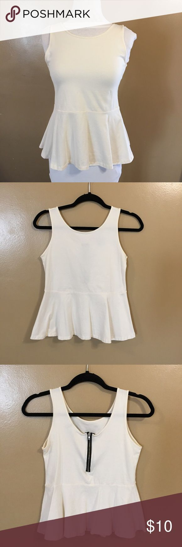 White Plum Top Cute White Plum Top w/Zipper detail on back! Size:Medium *PreLoved & in great shape! Tops Blouses