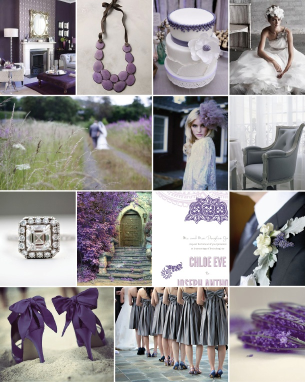 Didnt Like It Before But Now Im Warming To Purple Grey Weddings Maybe Add More Creams Whites And Ivorys Make Subtle