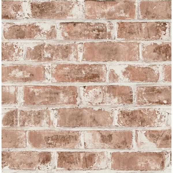 Brewster Jomax Red Warehouse Brick Strippable Roll Covers 56 4 Sq Ft Uw24760 The Home Depot Brick Wallpaper Faux Brick Brewster Wallcovering