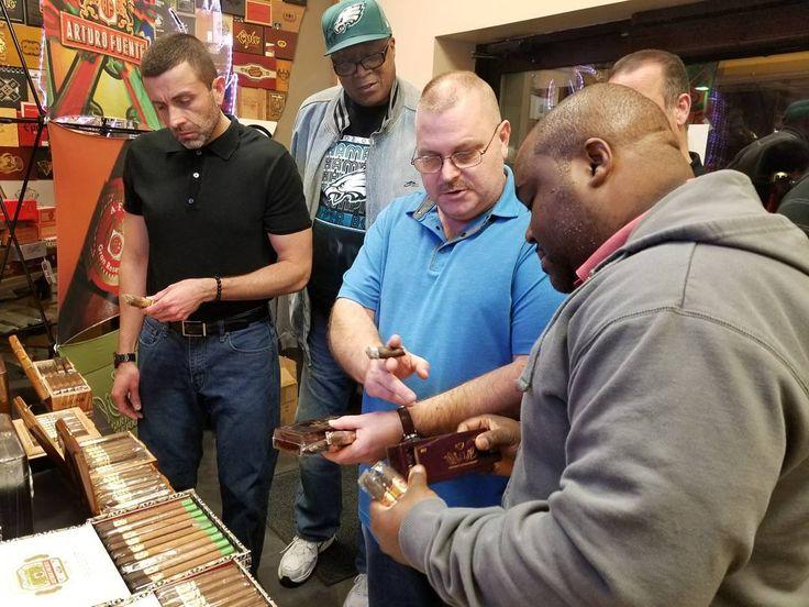 """Fuente Friday in full swing at the Black Horse Cigar Shop.  #blackhorsecigarshop #nj #cigar #philly #smokeemifyougotem #fuentefriday"
