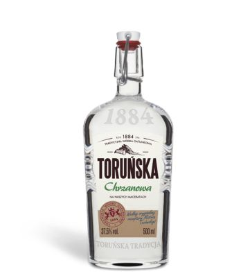 Toruńska Horseradish Vodka This unique horseradish vodka derives its exceptional, well-defined taste and aroma from macerate of Polish horseradish. Ideal for meat dishes and snacks, feast held at a table or barbeque meetings. Volume: 500 ml Alcoholicity: 37.5% vol.