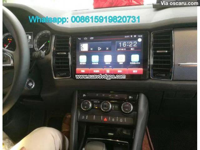 Skoda Kodiaq Car audio radio update android wifi GPS navigation camera