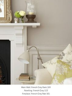 French Grey - Victorian Paint Colours - Period Paint Colours Little Green Co. Re-instate panelling?