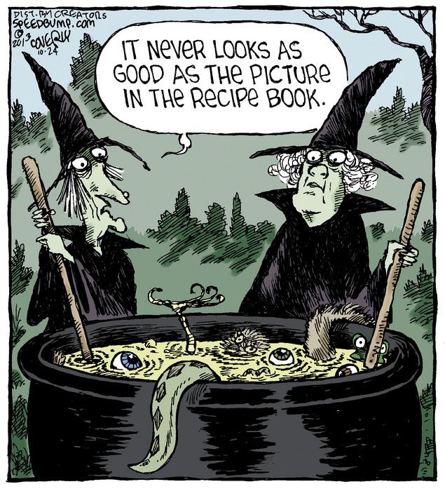Witches Carton - It never looks as good as the picture in the recipe book.