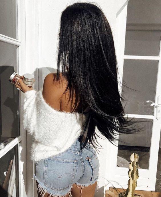6A Grade Brazilian Virgin Hair Straight 3Pcs/Pack Natural Black Color