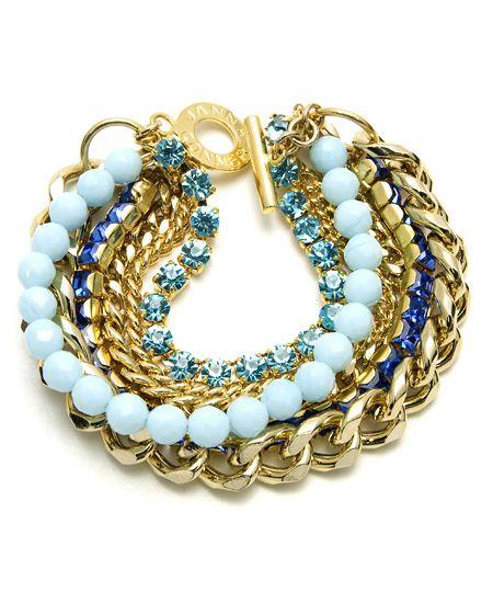 Janna Conner Yellow Goldtone Chain Bracelet: Conner Yellow, Yello Goldton, Chains Bracelets, Goldton Chains, Conner Goldtone, Necklaces, Goldtone Chains, Boho Bracelets, Yellow Goldton