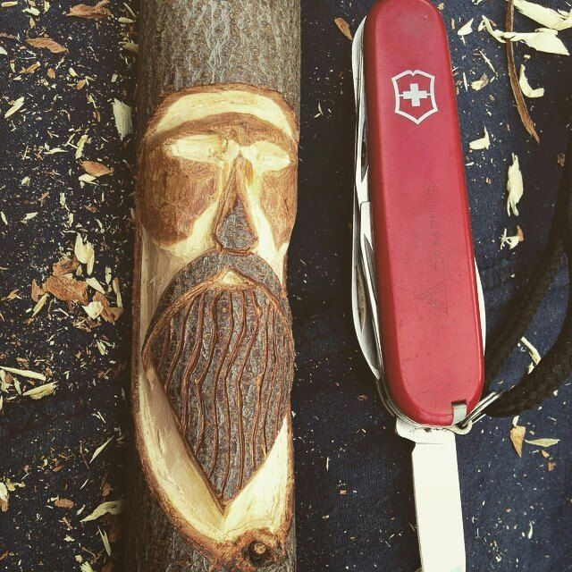@nomadtrav thanks for this great shot of your carving project using your #SwissArmyKnife. What do you guys think? #VictorinoxSwissArmy