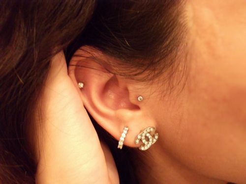 tragus piercing, second piercing and cartilage