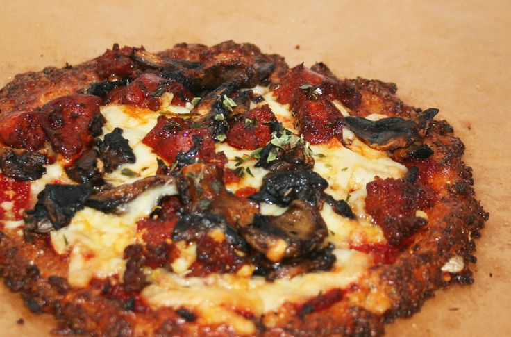 Carb Free: Cauliflower Base Pizza Recipe #healthy #food