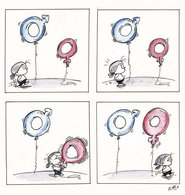Ilustrações refletem sobre luta das mulheres pela igualdade de gênero