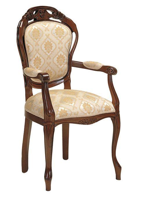 Sedia capotavola classica - ArteFerretto Sedia capotavola classica, dotata di schienale ampio e generosamente imbottito per un grande comfort di seduta.