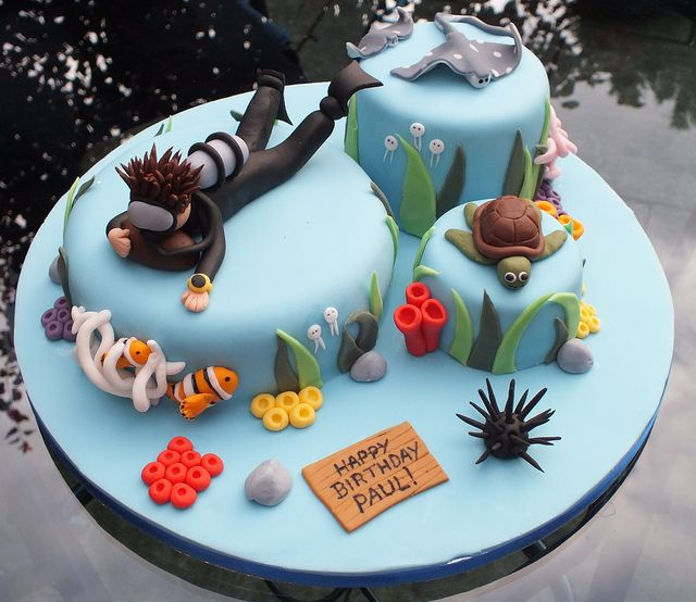 Scuba diving underwater cake | Flickr - Photo Sharing!