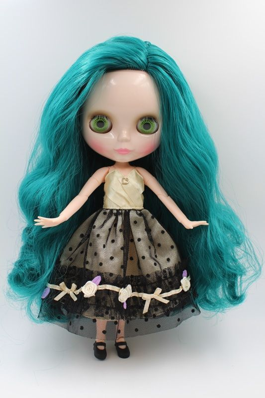 90.00$  Watch now - http://ali4bu.worldwells.pw/go.php?t=32771797428 - Free Shipping BJD joint RBL-223J DIY Nude Blyth doll birthday gift for girl 4 colour big eyes dolls with beautiful Hair cute toy 90.00$