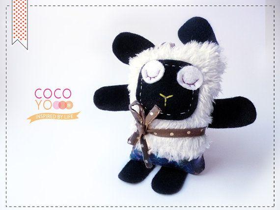 Handmade Black Sheep Animal Toy Decor Toy Black by COCOYOstore, €13.50