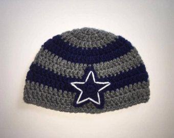 Crochet Dallas Cowboy Hat, Crochet Baby Hat, Cowboys Hat, Dallas Cowboys Hat, Baby Boy Hat, Handmade Crochet, Team Hat, Baby Shower Gift