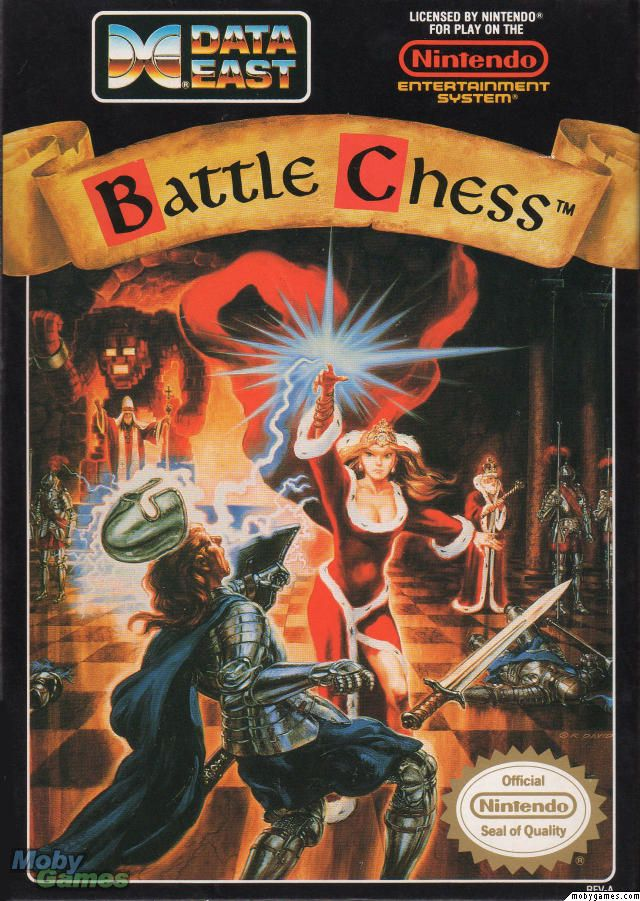 Battle Chess – I remember having a blast playing this game on my Mac back in the day. The Mac/PC version was MUCH better than this… The concept of this game is actually pretty good. It livens up the standard game of chess with cool and varied animations and gives it a cool phantasy feel. Problem is on NES the absurd slowness of the gameplay ruins any fun or entertainment.