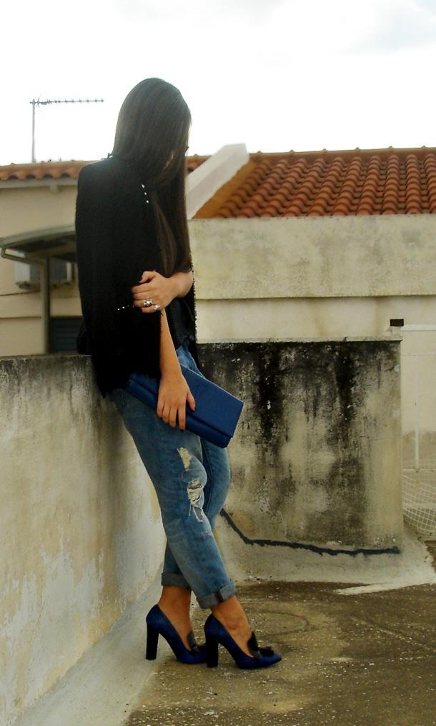 colbat blue ZARA heels