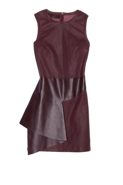 Show off in leather with this Neil Barrett oxblood dress