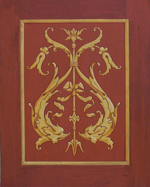 Painted Dolphin Door Panel  mural idea as seen on www.findamuralist.com