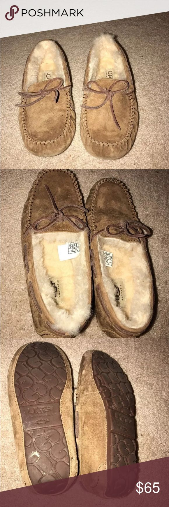 Ugg chestnut fur slippers size 8 In great condition! Only worn a few times. Nonsmoking home. UGG Shoes Slippers