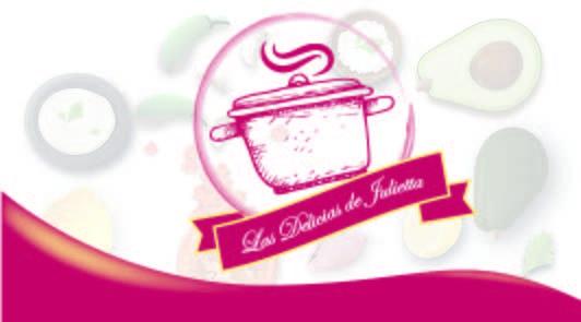 Logotipo para un negocio de almuerzo delivery. Las delicias de Julietta Año: 2016