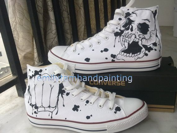 fetching how to design converse shoes at home. Cool Fashion Skull Design Custom Converse from EmilyTamHandPainti 74 best BL10 Pop Art images on Pinterest  shoes Shoe and