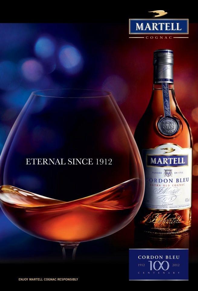 #Advertising Affiche pour les 100 ans du cognac Martell.