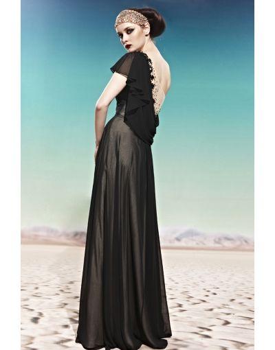 Black A-line Prom / Evening Dress