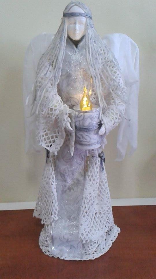 Aniołek ze światełkiem nadziei