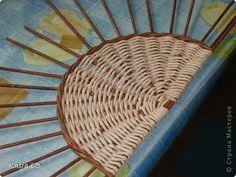Плетение МК полукруглого дна Трубочки бумажные фото 1