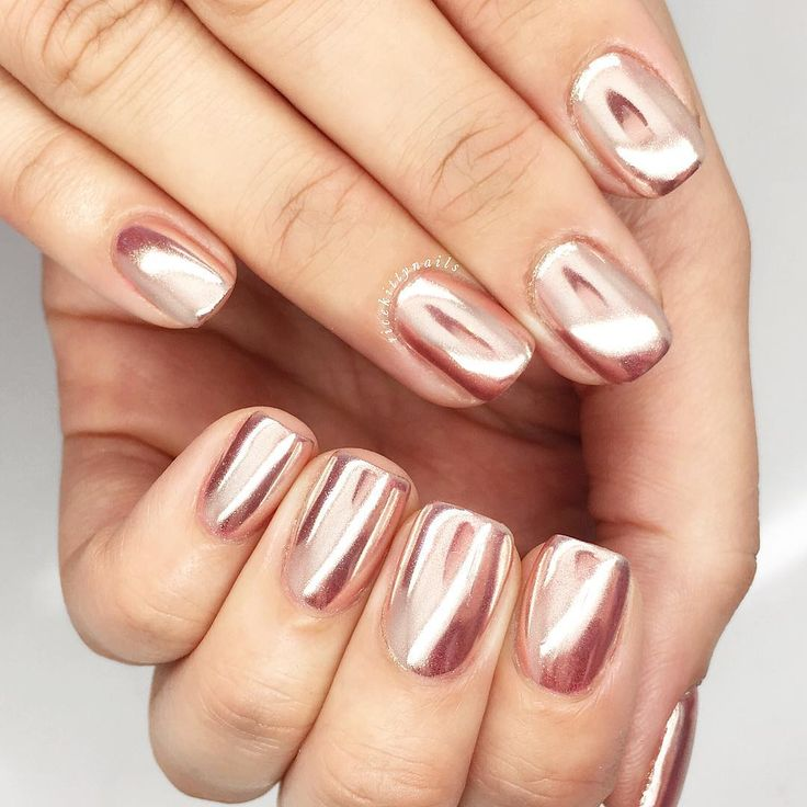 "1,089 Likes, 25 Comments - Diana Nguyen  (@ricekittynails) on Instagram: ""Do small things with great love! ❤️ ***** Rose  Gold Chrome  _________ ✌️️TAG YOUR FRIENDS!…"""
