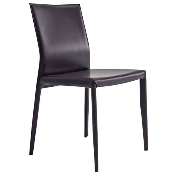Silla para restaurante moderna en cuero modelo leather - Cuero para tapizar sillas ...